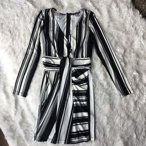 NEVER WORN. Long sleeve black/white dress XS.